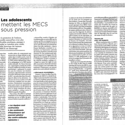 """Les adolescents mettent les MECS sous pression"""
