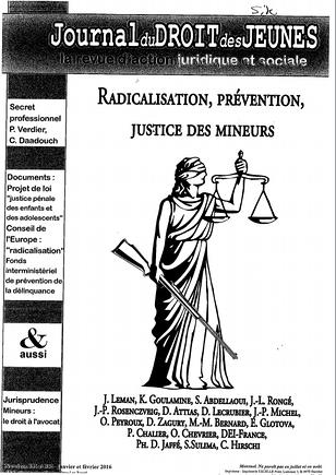 radicalisation, prevention, justice des mineurs